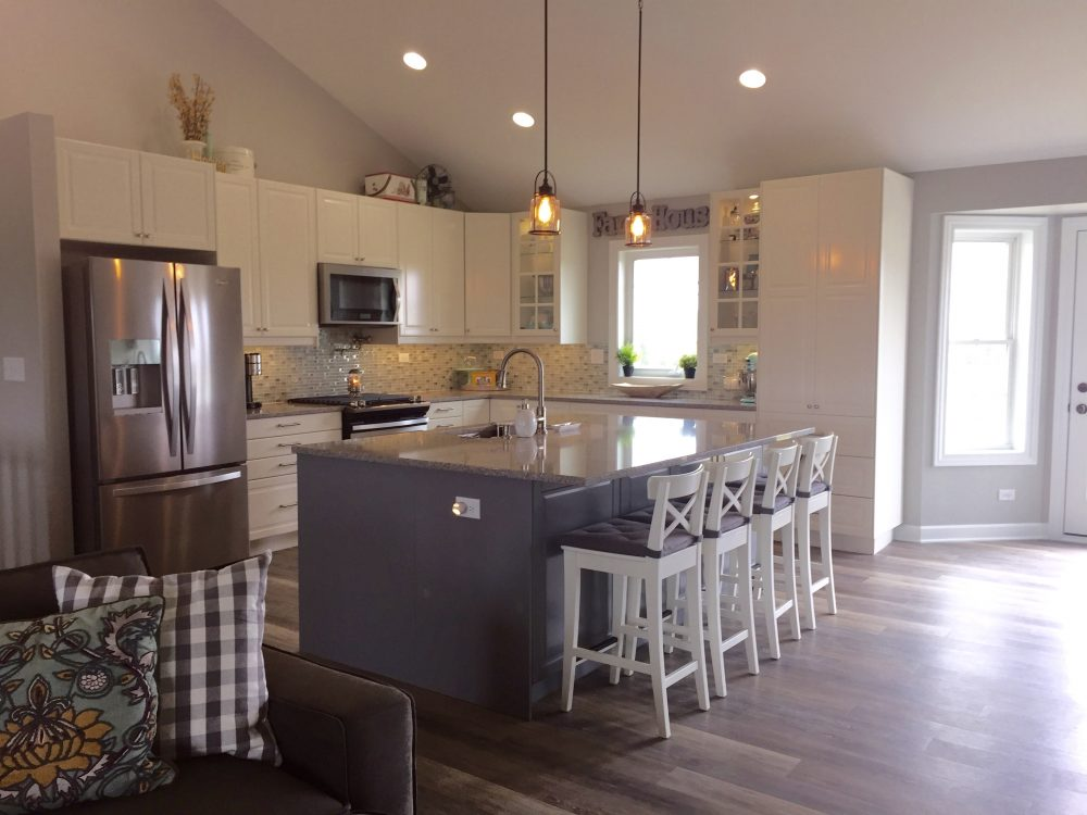 A modern farmhouse kitchen for a self described ikea freak - Farmhouse style kitchen cabinets ...