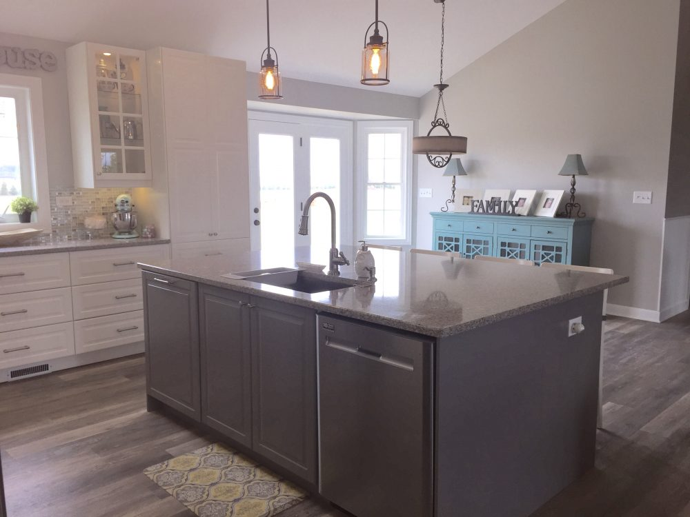 "Modern Farmhouse Kitchen a modern farmhouse kitchen for a self-described ""ikea freak"""