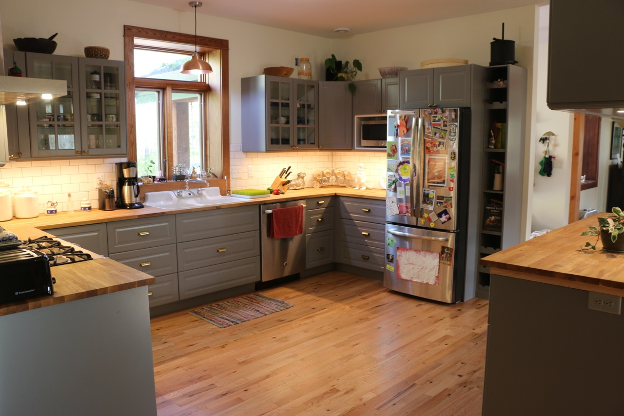 An ikea kitchen helps keep this minnesota home warm in the for Ikea hours minneapolis