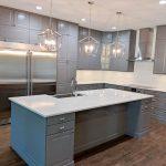 Orlando's newest attraction. A thrilling IKEA Bobdyn grey kitchen