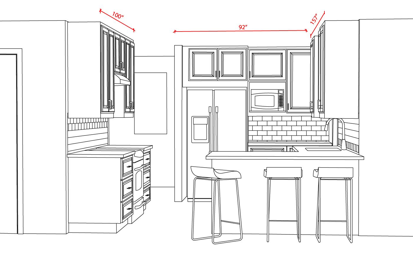 IKEA Kitchen with BODBYN design