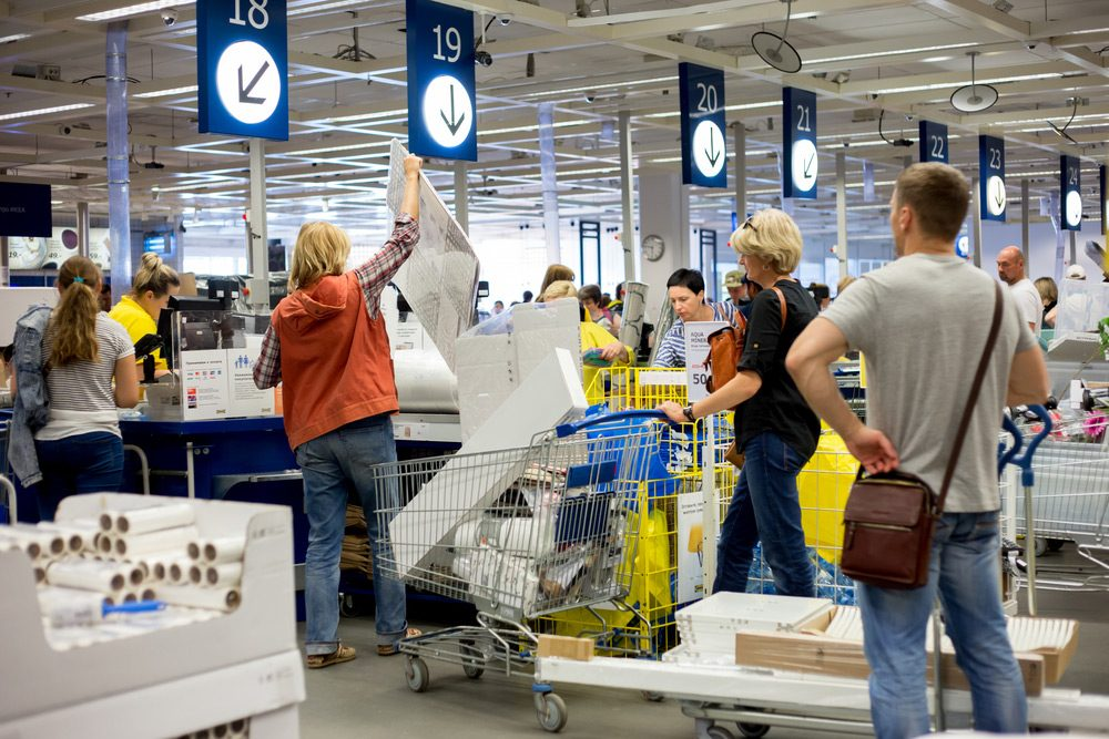 Shoppers at Sale Event