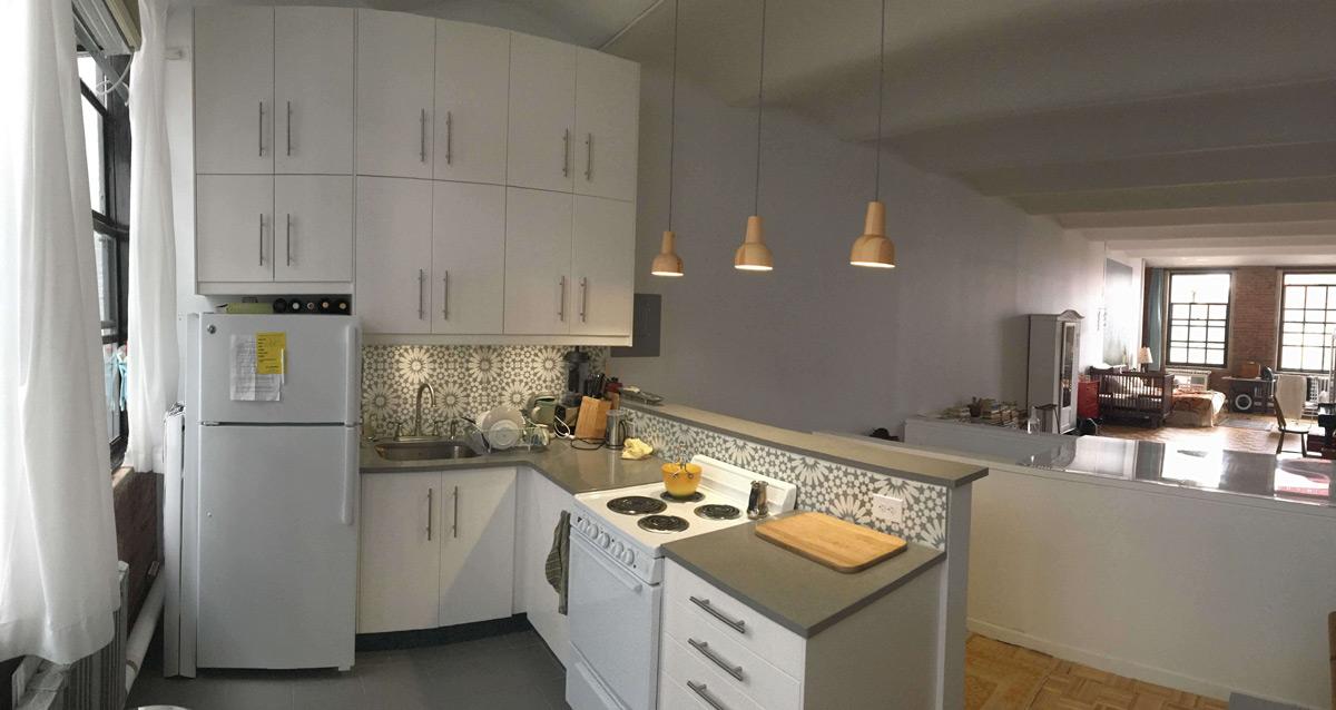 Nyc Loft Features Minimalist Styled Ikea Kitchen