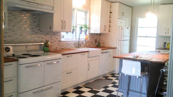 vintage modern ikea kitchen