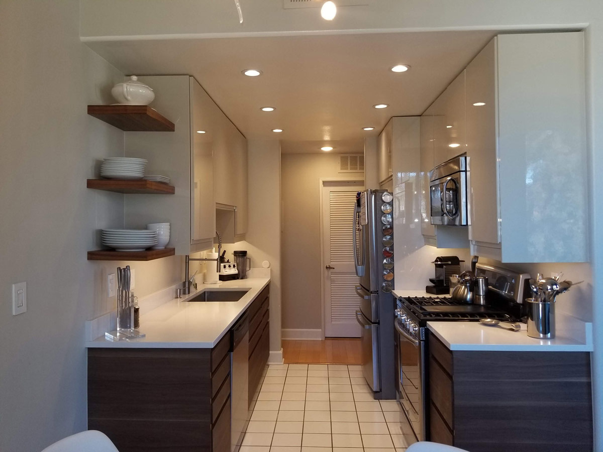 Galley-Style IKEA Kitchen Gets Classic Makeover