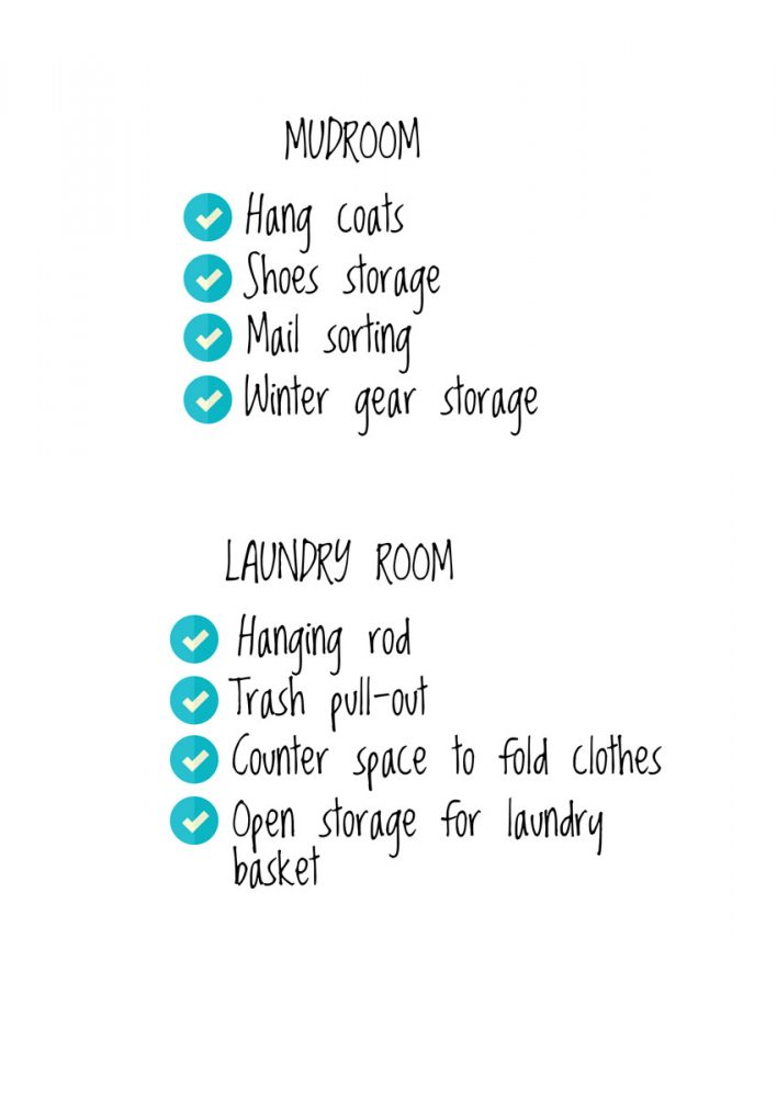 Mudroom Laundry Room Checklist