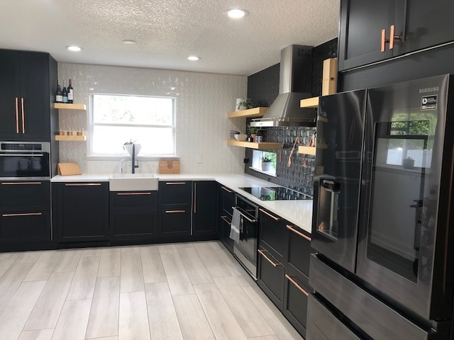 Customer Remodels Ikea Kitchen With All Black Design