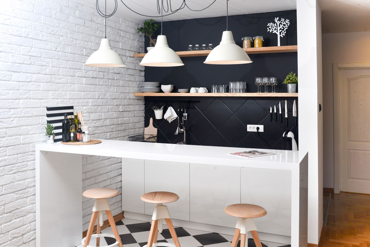 Build Your Own Bar or Coffee Station With IKEA Cabinets
