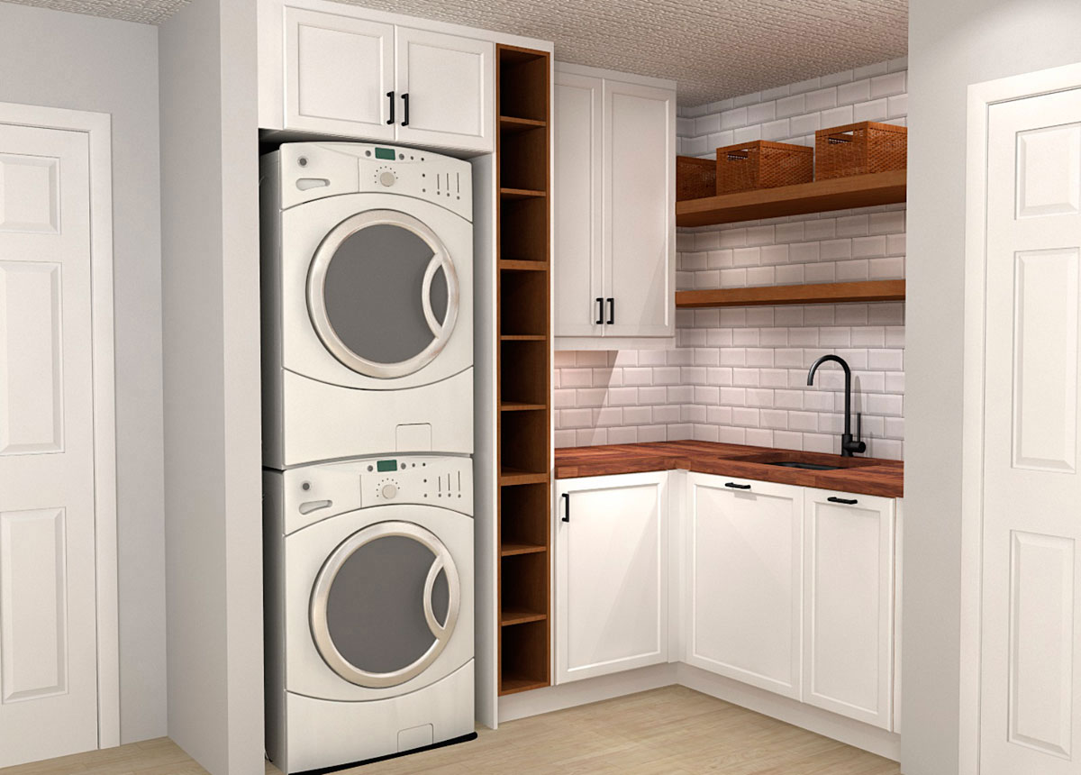 Ikea Sektion Solutions For A Neat Laundry Room