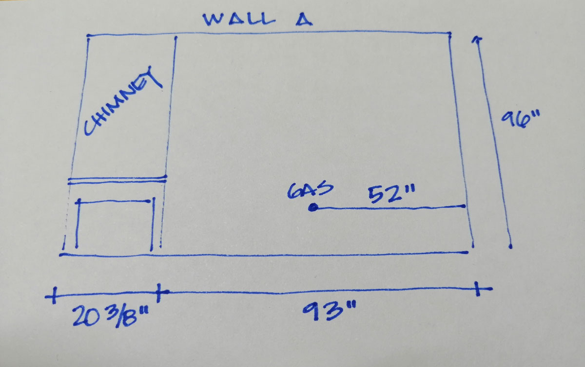 Wall-A Kitchen Measurements