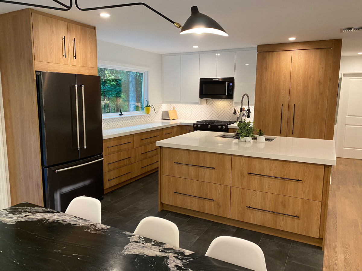 All Wood Kitchen White Counters