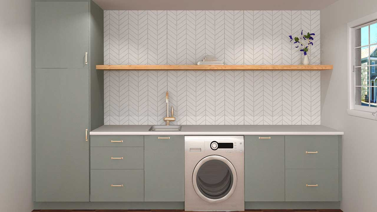Three IKEA Laundry Room Designs for Under $20