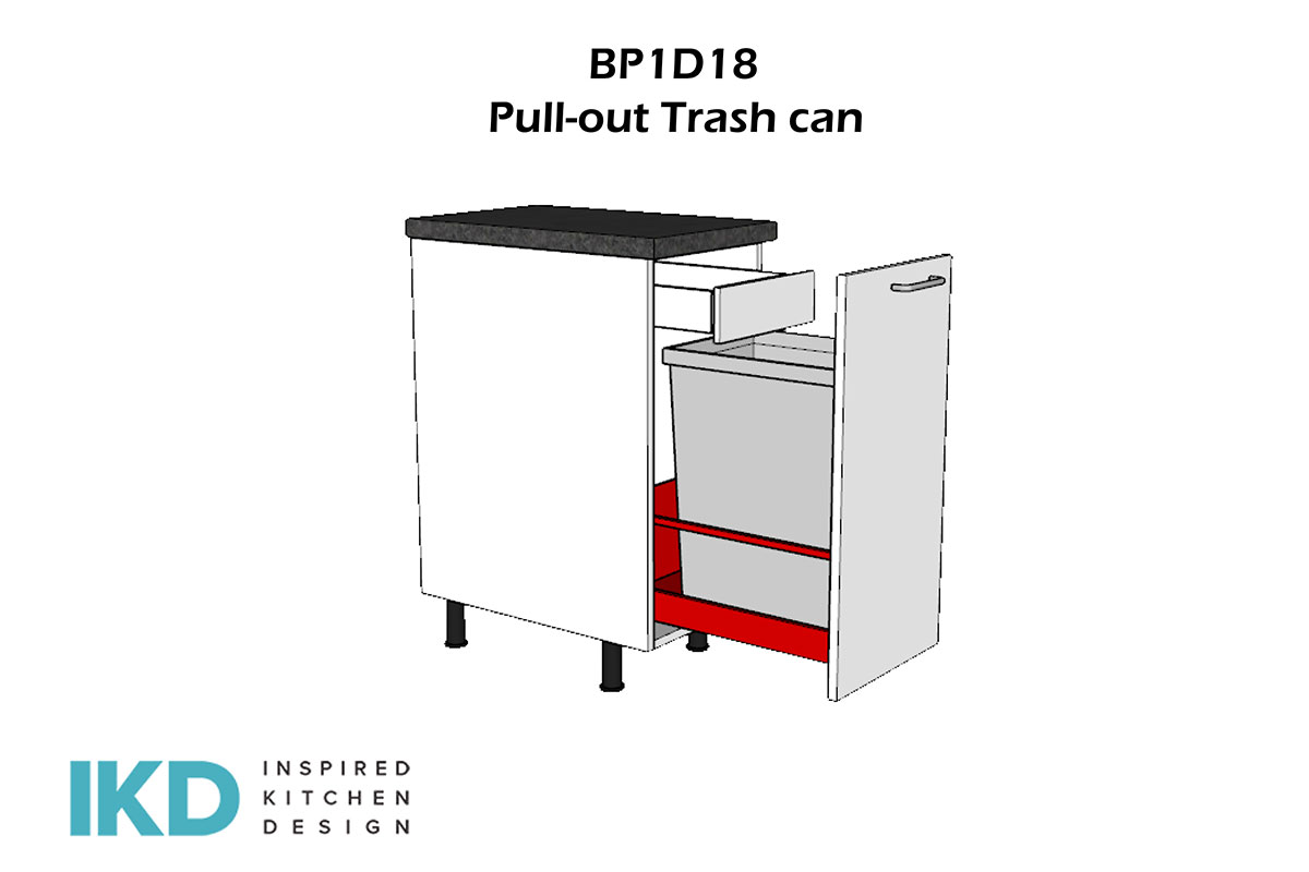 bp1d18 pull-out trash can