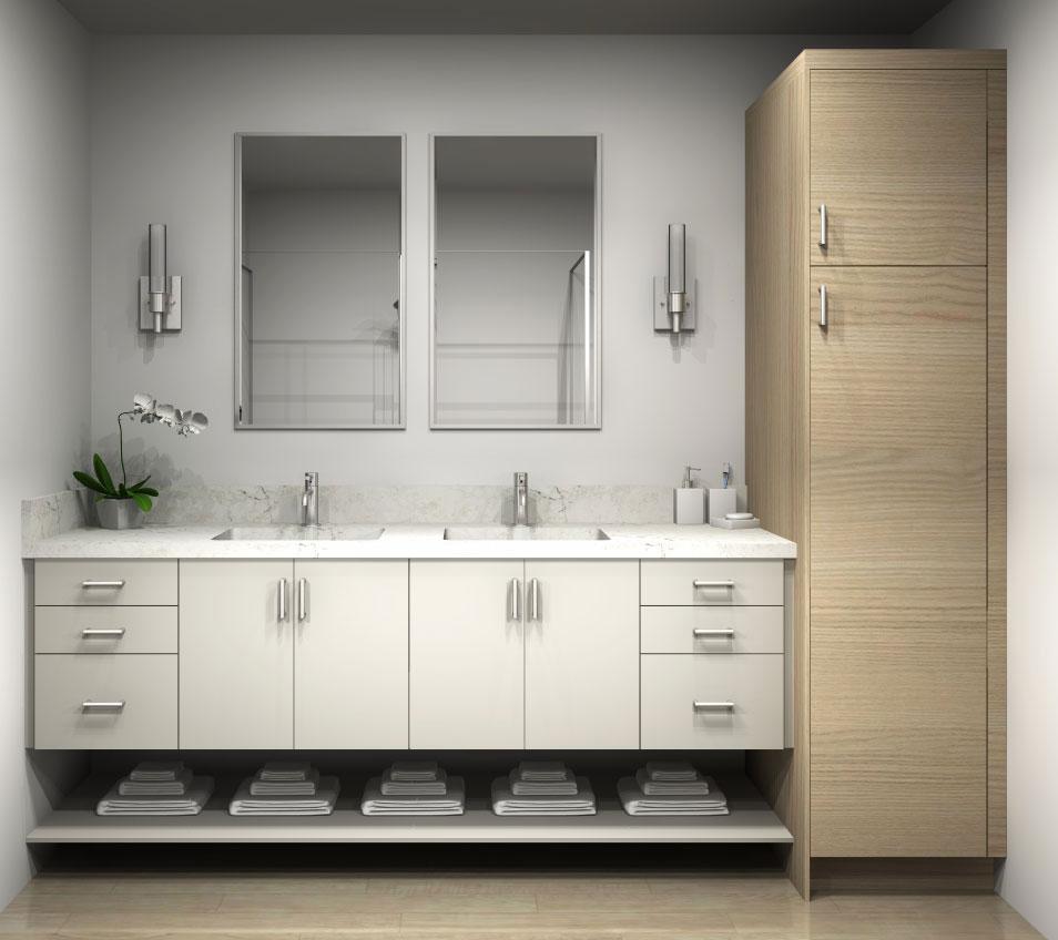 boxi tall cabinet for bathroom