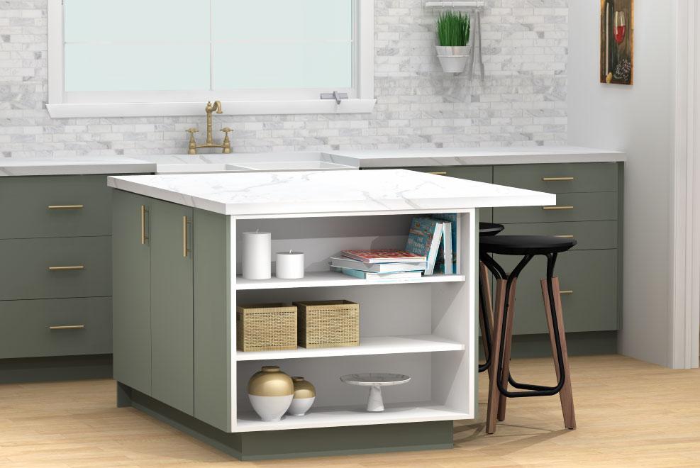 kitchen island open storage