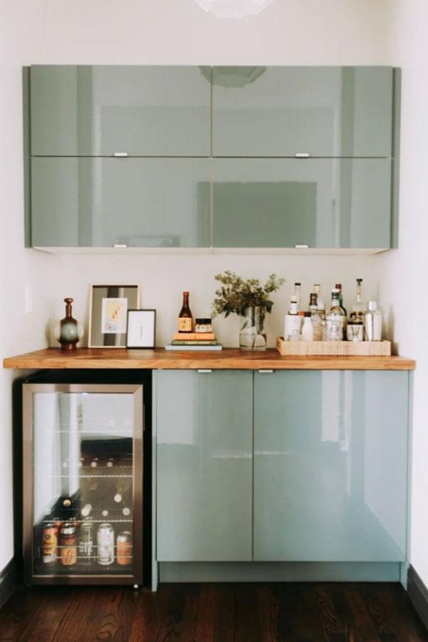 ikea cabinets bar